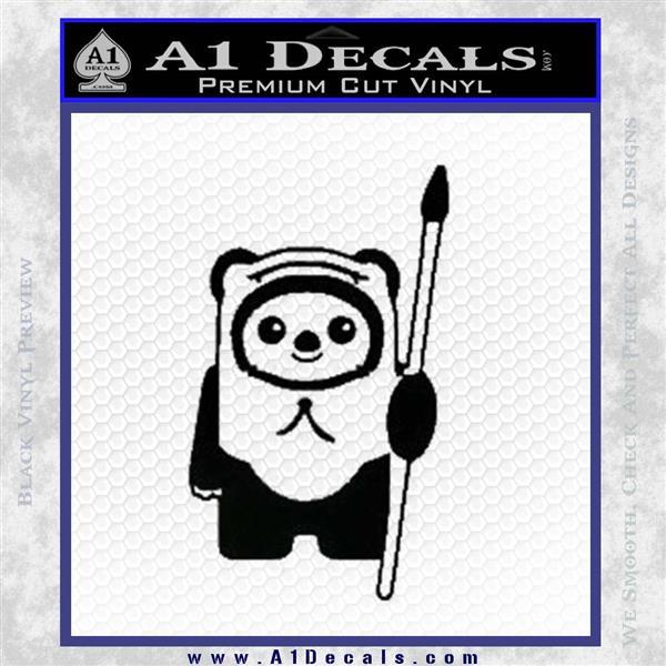 Space Battle Cute Bear Thing Decal Sticker Black Vinyl Logo Emblem