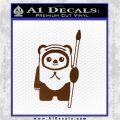 Space Battle Cute Bear Thing Decal Sticker Brown Vinyl 120x120