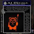 Space Battle Cute Bear Thing Decal Sticker Orange Vinyl Emblem 120x120