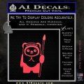 Space Battle Cute Bear Thing Decal Sticker Pink Vinyl Emblem 120x120
