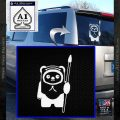 Space Battle Cute Bear Thing Decal Sticker White Vinyl Emblem 120x120