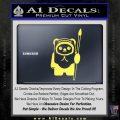 Space Battle Cute Bear Thing Decal Sticker Yellow Vinyl 120x120