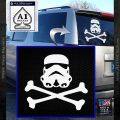 Space Infantry Crossbones Decal Sticker D1 White Vinyl Emblem 120x120