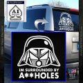 Spaceballs Decal Sticker Dark Helmet Assholes White Vinyl Emblem 120x120