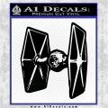 Spaceship DTF D4 Decal Sticker Black Vinyl Logo Emblem 120x120