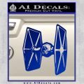 Spaceship DTF D4 Decal Sticker Blue Vinyl 120x120