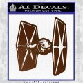 Spaceship DTF D4 Decal Sticker Brown Vinyl 120x120