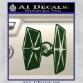 Spaceship DTF D4 Decal Sticker Dark Green Vinyl 120x120