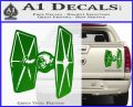 Spaceship DTF D4 Decal Sticker Green Vinyl 120x97