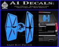 Spaceship DTF D4 Decal Sticker Light Blue Vinyl 120x97