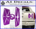 Spaceship DTF D4 Decal Sticker Purple Vinyl 120x97