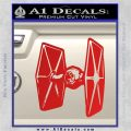 Spaceship DTF D4 Decal Sticker Red Vinyl 120x120