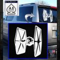 Spaceship DTF D4 Decal Sticker White Vinyl Emblem 120x120