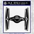 Spaceship DTF D5 Decal Sticker Black Vinyl Logo Emblem 120x120