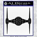 Spaceship DTF Decal Sticker DP Black Vinyl Logo Emblem 120x120