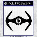 Spaceship DTI Decal Sticker Black Vinyl Logo Emblem 120x120