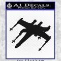 Spaceship DXW Fighter Decal Sticker Black Vinyl Logo Emblem 120x120