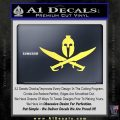 Spartan 300 Crossed Swords Pirate Decal Sticker Yellow Vinyl 120x120