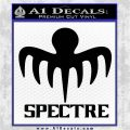 Spectre 007 Decal Sticker 2015 Black Vinyl Logo Emblem 120x120