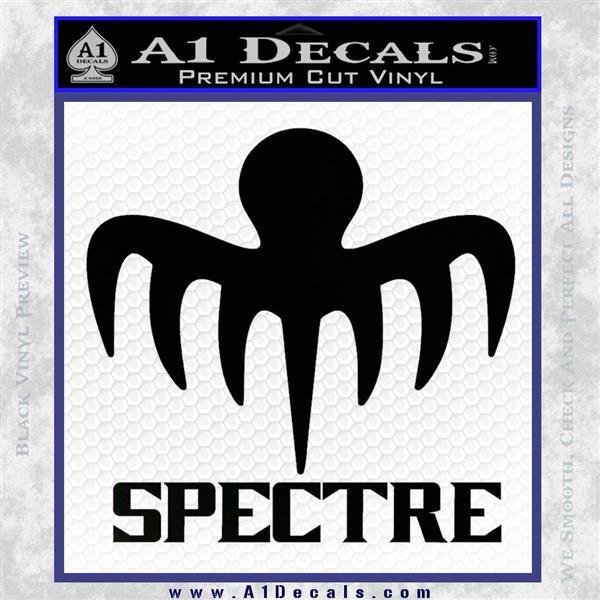 Spectre 007 Decal Sticker 2015 Black Vinyl Logo Emblem