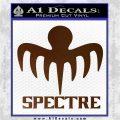 Spectre 007 Decal Sticker 2015 Brown Vinyl 120x120