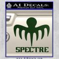 Spectre 007 Decal Sticker 2015 Dark Green Vinyl 120x120