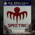 Spectre 007 Decal Sticker 2015 Dark Red Vinyl 120x120