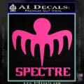 Spectre 007 Decal Sticker 2015 Hot Pink Vinyl 120x120