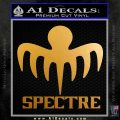 Spectre 007 Decal Sticker 2015 Metallic Gold Vinyl 120x120