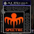 Spectre 007 Decal Sticker 2015 Orange Vinyl Emblem 120x120