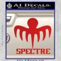 Spectre 007 Decal Sticker 2015 Red Vinyl 120x120