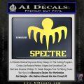 Spectre 007 Decal Sticker 2015 Yellow Vinyl 120x120