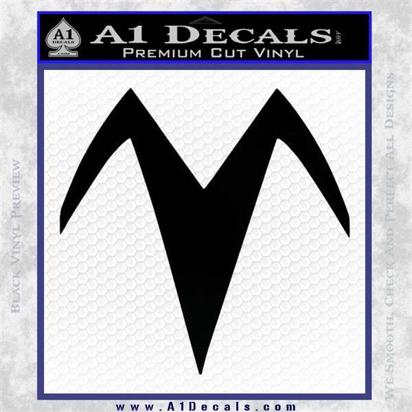 Speed Racer X Chest Emblem Decal Sticker Black Vinyl Logo Emblem