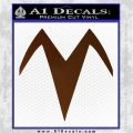 Speed Racer X Chest Emblem Decal Sticker Brown Vinyl 120x120