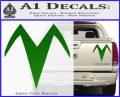Speed Racer X Chest Emblem Decal Sticker Green Vinyl 120x97
