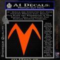 Speed Racer X Chest Emblem Decal Sticker Orange Vinyl Emblem 120x120