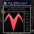 Speed Racer X Chest Emblem Decal Sticker Pink Vinyl Emblem 120x120