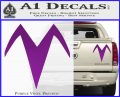 Speed Racer X Chest Emblem Decal Sticker Purple Vinyl 120x97