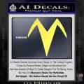Speed Racer X Chest Emblem Decal Sticker Yellow Vinyl 120x120