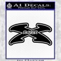 Speed Racer X D1 Decal Sticker Black Vinyl Logo Emblem 120x120