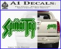 Spinal Tap Band Decal Sticker Green Vinyl 120x97