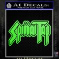 Spinal Tap Band Decal Sticker Lime Green Vinyl 120x120