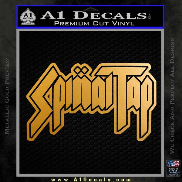 Spinal Tap Band Decal Sticker Metallic Gold Vinyl