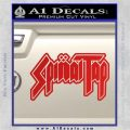 Spinal Tap Band Decal Sticker Red Vinyl 120x120
