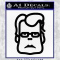 Stephen King Decal Sticker Face Black Vinyl Logo Emblem 120x120