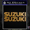 Suzuki Retro TXT Decal Sticker Metallic Gold Vinyl 120x120