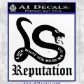 Taylor Swift Snake Reputation Decal Sticker Black Vinyl Logo Emblem 120x120