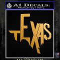 Texas Decal Sticker Letters Metallic Gold Vinyl 120x120