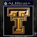 Texas Tech Decal Sticker Metallic Gold Vinyl 120x120