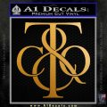Tiffany Co. Decal Sticker Logo D1 Metallic Gold Vinyl 120x120